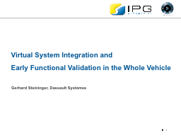 1 Virtual System Integration and