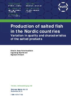 Love RM. 1979. The post-mortem pH of cod and haddock muscle and its se