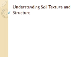 Understanding Soil Texture and Structure PowerPoint PPT Presentation