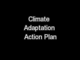 Climate Adaptation Action Plan