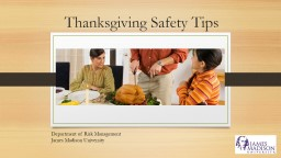 Thanksgiving Safety Tips PowerPoint PPT Presentation