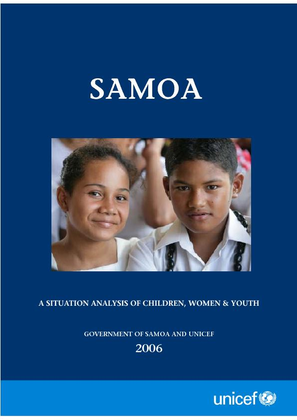 GOVERNMENT OF SAMOA AND UNICEF2006