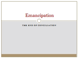 The End of conciliation