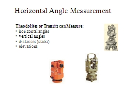 Horizontal Angle Measurement