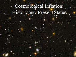 Cosmological Inflation: