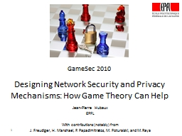 1 Designing Network Security and Privacy