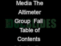Co op Advertising K By Rebecca Lieb Analyst Digital Advertising  Media The Altimeter Group  Fall  Table of Contents  Introduction Digital advertising revenues hit a historic high in  a record  billio PowerPoint PPT Presentation