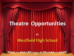 Theatre Opportunities PowerPoint PPT Presentation