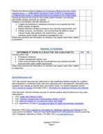 Checklist for Healthcare Coalitions for Ebola Preparedness The Department of Health and Human HUYLFHV Centers for Disease Control and Prevention CDC and Office of the Assistant Secretary for Prepared