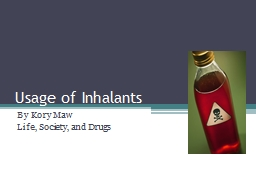 Usage of Inhalants