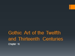 Gothic Art of the Twelfth and Thirteenth Centuries