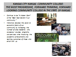 KANSAS CITY KANSAS COMMUNITY COLLEGE: