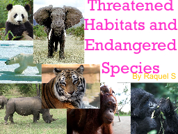 Threatened Habitats and Endangered Species PowerPoint PPT Presentation