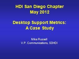 HDI San Diego Chapter