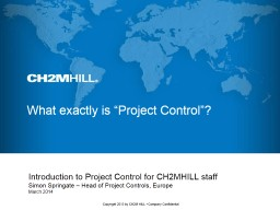 Embedding effective Project Control PowerPoint PPT Presentation