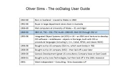 Oliver Sims - The