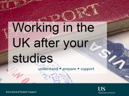 Working in the UK after your studies