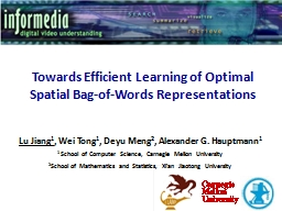 Towards Efficient Learning of Optimal Spatial Bag-of-Words