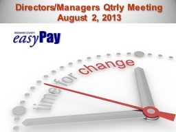 Directors/Managers PowerPoint PPT Presentation
