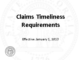 Claims Timeliness