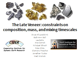 The Late Veneer: constraints on composition, mass, and mixi