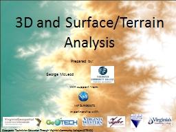 3D and Surface/Terrain Analysis PowerPoint PPT Presentation
