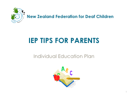 IEP TIPS FOR PARENTS PowerPoint PPT Presentation