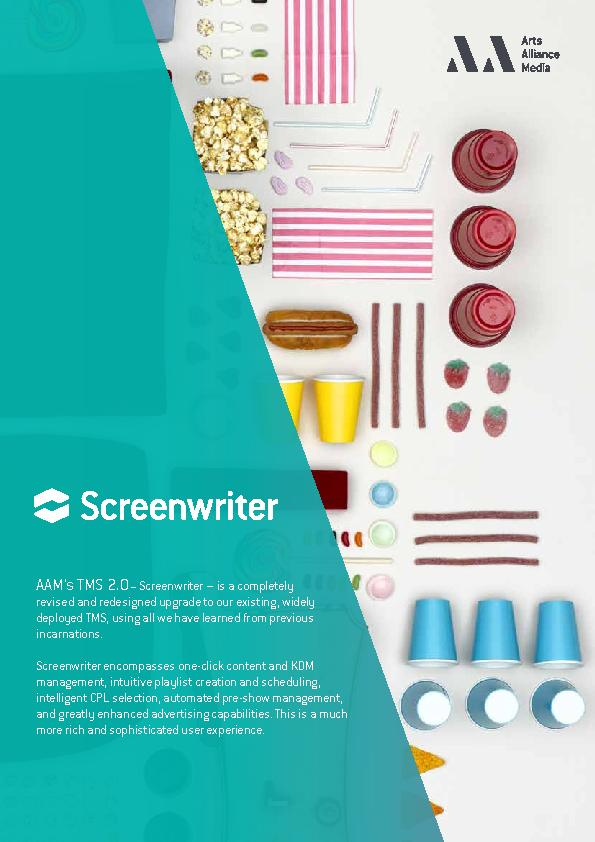 AAM's TMS 2.0Screenwriter – is a completely revised and rede