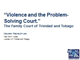 """""""Violence and the Problem-Solving Court"""