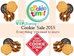 Cookie Sale 2015