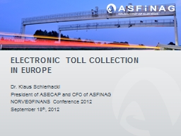 Electronic Toll Collection PowerPoint PPT Presentation