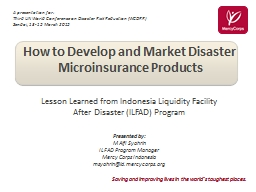 How to Develop and Market Disaster