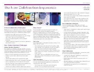 The New Collaboration Experience AtAGlance   Cisco andor its affiliates