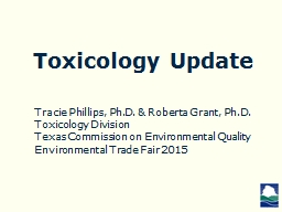 Toxicology Update