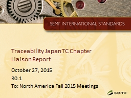 Traceability Japan TC Chapter
