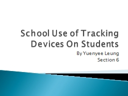 School Use of Tracking Devices On