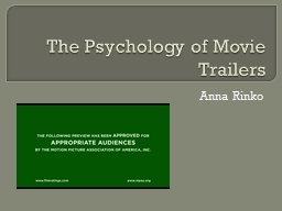 The Psychology of Movie Trailers