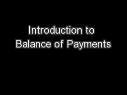 Introduction to Balance of Payments