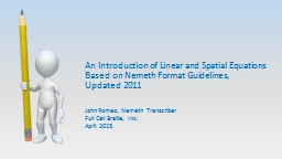 An Introduction of Linear and Spatial Equations Based on Ne