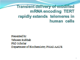 Transient delivery of