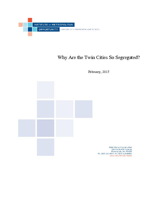 Why Are the Twin Cities So Segregated?