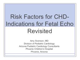 Risk Factors for CHD- PowerPoint PPT Presentation