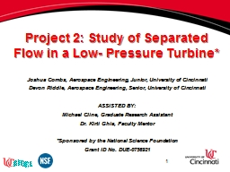 Project 2: Study of Separated Flow