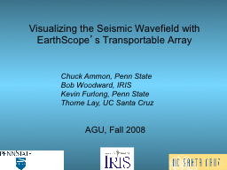 Visualizing the Seismic Wavefield with EarthScope