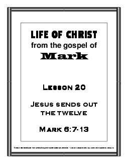 Mission Arlington/Mission Metroplex Curriculum/Life of Christ/Gospel o