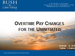 Overtime Pay Changes
