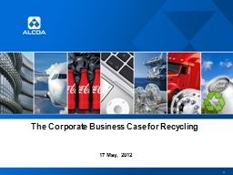 The Corporate Business Case for Recycling PowerPoint PPT Presentation