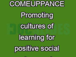 CATALYST CENTRE  COMEUPPANCE Promoting cultures of learning for positive social change ph