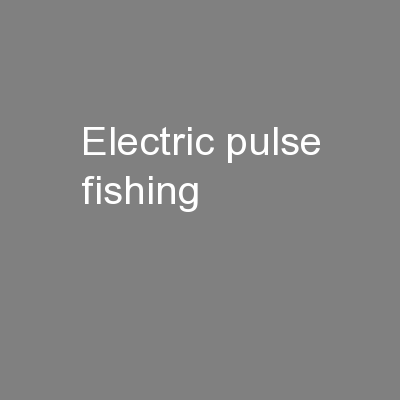 Electric pulse fishing PowerPoint PPT Presentation