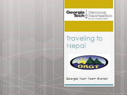Traveling to Nepal